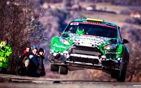 Обои Гонка, Ford, Спорт, Дорога, передок, WRC, Ралли