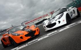 Картинка белый, оранжевый, трасса, Lotus, white, лотус, orange