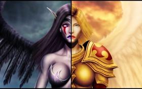 Картинка League of Legends, Kayle, Morgana, Fallen Angel, the Judicator