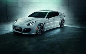 Картинка Porsche, white, Panamera Turbo, TechArt GrandGT