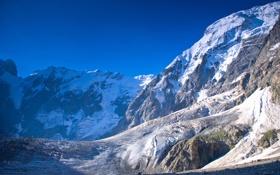 Обои зима, заснеженные, горы, Winter mountains, красота