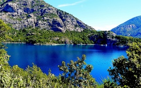 Обои деревья, горы, озеро, скалы, Аргентина, Moreno Lake