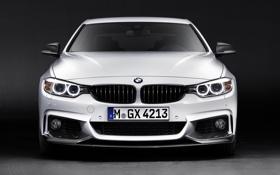 Обои BMW, white, front, Performance, 4 Series