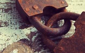 Обои metal, rust, padlock