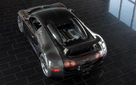 Картинка машины, черный, спорт, bugatti veyron, кар .