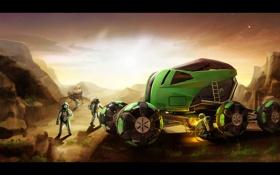 Обои марс, трактор, Tractor for Mars