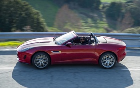 Обои дорога, авто, обои, Jaguar, F-Type