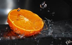 Обои вода, оранжевый, апельсин