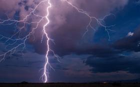 Обои небо, облака, природа, стихия, молния