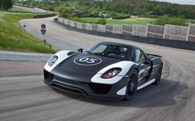 Картинка Порше, прототип, Porsche, передок, спайдер, 918, суперкар