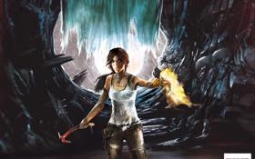 Картинка Tomb Raider, game, art, 2013, Лара, расхитительница гробниц, Крофт