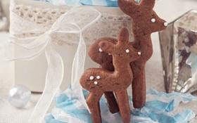 Картинка праздник, Рождество, человечек, сладости, Новый год, Christmas, печенька