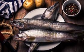 Картинка рыба, специи, картофель, сельдь