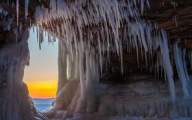 Картинка рассвет, лёд, Warm Inhalation