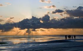 Обои пейзаж, красоты, песок. небо, волны, море, побережье, берег