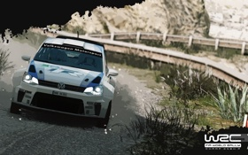 Обои Авто, Игра, Белый, Спорт, Volkswagen, Машина, Rally