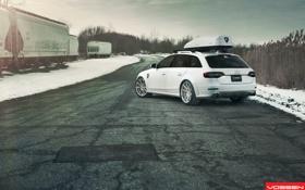 Обои AUDI, Авто, Vossen, Wheels, Машина, снег, Auto