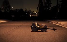 Картинка дорога, асфальт, ночь, музыка, одиночество, настроение, улица