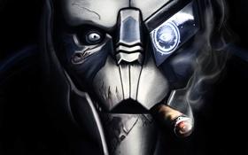 Обои интерфейс, дым, сигара, Mass Effect, Starcraft, crossover, ожоги