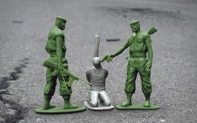 Обои HYPE, солдатики, Amnesty International, Это - только игра?, игрушки, Toy Soldiers