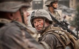 Обои фильм, солдаты, Аарон Экхарт, world invasion battle la, инопланетное вторжение: битва за лос-анджелес, мишель родригес
