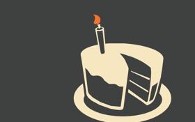 Обои свеча, портал, пирог