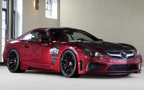 Картинка красный, отражение, блеск, Mercedes-Benz, red, C25, передняя часть