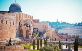 Картинка пейзаж, храм, Иерусалим, Израиль, Jerusalem