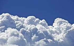 Картинка облака, синий, небо