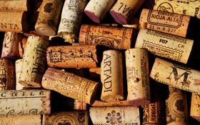 Обои вино, пробки, vine, corks