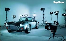 Обои фон, Кобра, Top Gear, суперкар, передок, Cobra, софиты