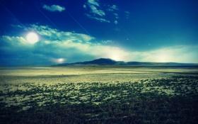 Обои долина, небо, descending