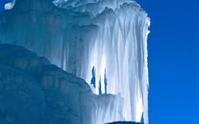 Картинка лед, небо, свет, сосульки