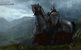 Картинка конь, воин, броня, Dragon Age: Inquisition