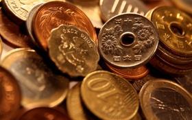 Обои деньги, монеты, валюта