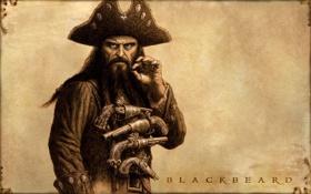 Обои арт, пираты карибского моря, pirates of the caribbean, disney, черная борода, на странных берегах, on ...