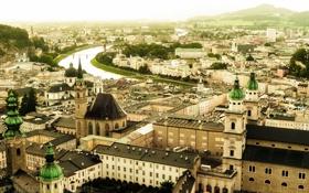 Картинка город, панорама, Salzburg