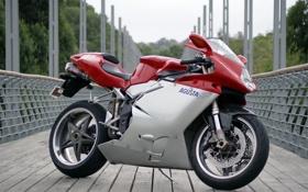 Обои мост, мотоцикл, 750, MV Agusta, супербайк, мв агуста