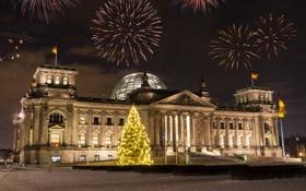 Обои city, город, lights, огни, Германия, Germany, Берлин