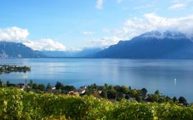 Обои пейзаж, горы, природа, озеро, фото, Швейцария