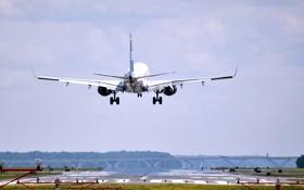 Обои Небо, Самолет, Крылья, Boeing, Авиация, Взлет, Летит