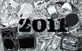 Картинка телевизор, ролики, кепка, год, 2011, loco, usd