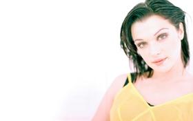 Картинка white, Rachel Weisz, woman, yellow, pretty, yellow dress, Rachel