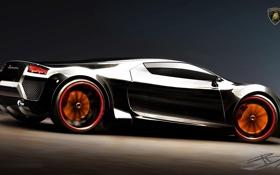 Обои диски, концепт, Lamborghini Cachazo, фары
