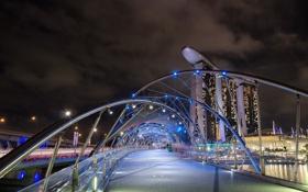 Обои Singapore, Marina Bay, Helix Bridge