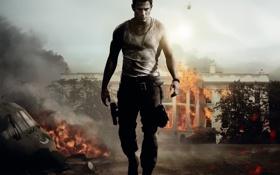 Обои fire, gun, Action, man, movie, Helicopter, danger