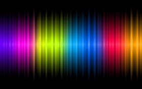 Обои colors, black, present, neon, chrome, random, glowing