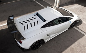 Картинка LP570-4, Super Trofeo Stradale, white, белый, Gallardo, ламборгини, Lamborghini