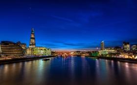 Картинка ночь, англия, лондон, london, night, england, thames