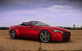 Картинка красный, Aston Martin, Vantage, астон мартин, cabrio, autowalls
